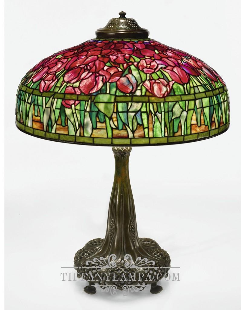 Лампа Тиффани Тюльпаны Tulips форма полусфера