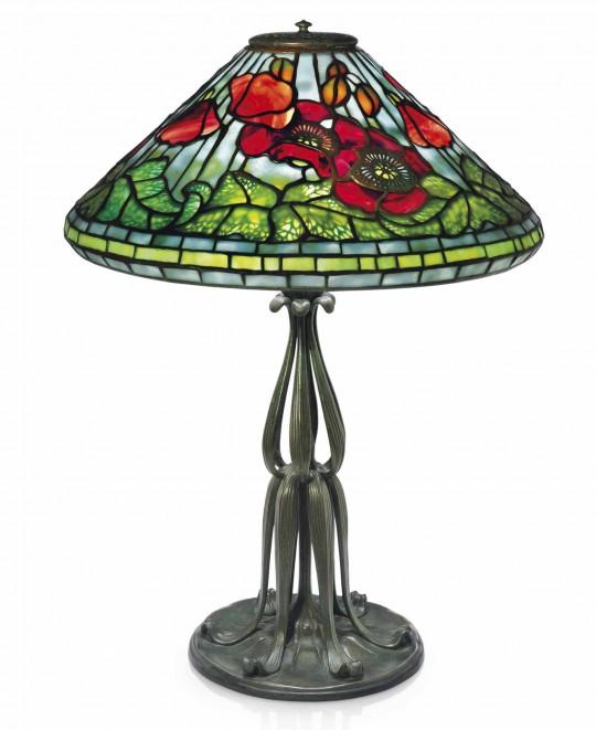 Оригинальная лампа Тиффани POPPY (Маки)